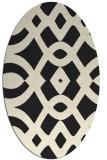 rug #204925   oval black rug