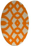 rug #204933 | oval beige graphic rug