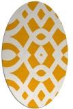 rug #204953   oval light-orange graphic rug