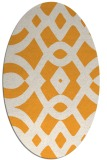 rug #204965 | oval white graphic rug