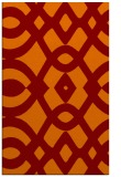 rug #205157 |  red-orange graphic rug