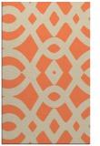 rug #205165 |  orange graphic rug