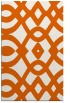 rug #205237 |  red-orange graphic rug