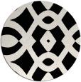 rug #205325 | round black graphic rug