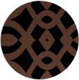 rug #205337 | round black graphic rug
