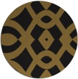 rug #205437 | round black graphic rug