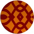 rug #205509 | round orange graphic rug