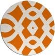 rug #205513 | round orange graphic rug