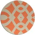 rug #205517 | round orange graphic rug