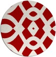rug #205561 | round red rug