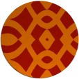 rug #205565 | round red graphic rug