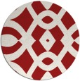 rug #205569 | round red graphic rug