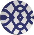 rug #205601 | round blue rug