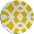 rug #205621 | round yellow graphic rug