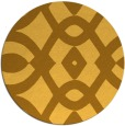 rug #205625 | round yellow graphic rug