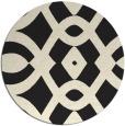 rug #205629 | round black graphic rug