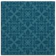 rug #206073 | square blue-green damask rug