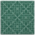 rug #206081 | square blue-green damask rug