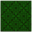 rug #206093 | square green damask rug