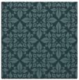 rug #206097 | square blue-green damask rug