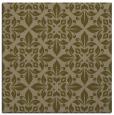 rug #206145 | square mid-brown damask rug