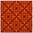 rug #206213 | square red-orange damask rug