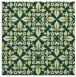 rug #206229 | square blue-green traditional rug