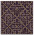 rug #206257 | square mid-brown damask rug