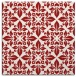rug #206273 | square red traditional rug