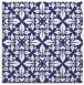 rug #206305 | square blue damask rug