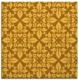 rug #206329 | square light-orange damask rug