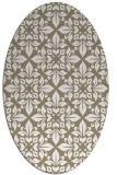 rug #206377 | oval white damask rug