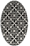 rug #206381 | oval white geometry rug