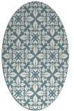 rug #206401 | oval white traditional rug