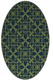 rug #206413 | oval green traditional rug
