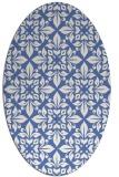 rug #206418 | oval damask rug