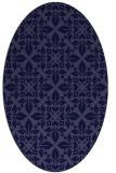 rug #206461   oval blue-violet damask rug