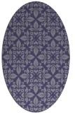 rug #206465   oval blue-violet traditional rug