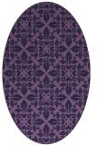 rug #206473 | oval blue-violet traditional rug