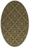 rug #206497   oval brown damask rug