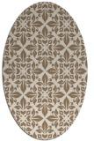 rug #206529 | oval beige damask rug
