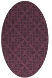 rug #206601   oval purple traditional rug
