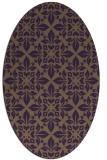 rug #206609   oval purple traditional rug