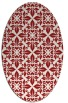 rug #206625 | oval red traditional rug