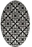 rug #206649 | oval black traditional rug