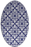 rug #206657 | oval white geometry rug
