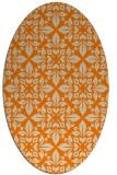 rug #206693 | oval beige damask rug
