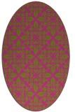 rug #206705 | oval light-green rug