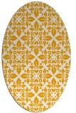 rug #206713 | oval light-orange damask rug