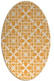 rug #206725 | oval light-orange damask rug